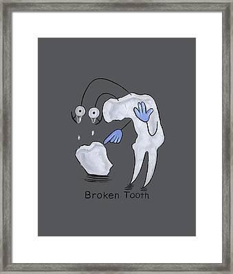 Broken Tooth  Framed Print