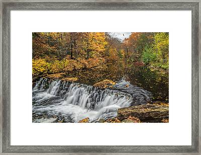 Bronx River Waterfall Framed Print by June Marie Sobrito