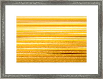 Bronze Wire-drawing Italian Spaghetti  Framed Print