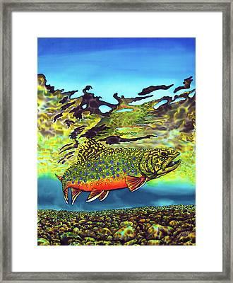 Brook Trout Framed Print by Daniel Jean-Baptiste