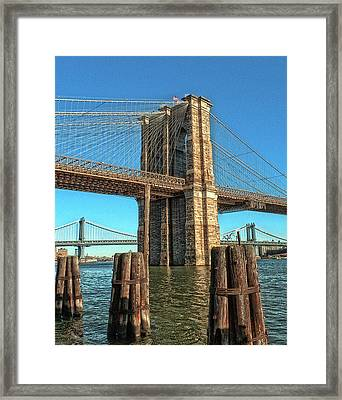 Brooklyn Bridge Framed Print by Francis Dangelo