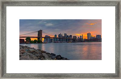 Brooklyn Sunset Framed Print by David Hahn