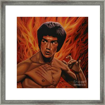 Bruce Lee Enter The Dragon Framed Print by Paul Meijering