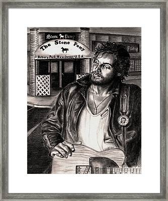 Bruce Springsteen Framed Print by Kathleen Kelly Thompson