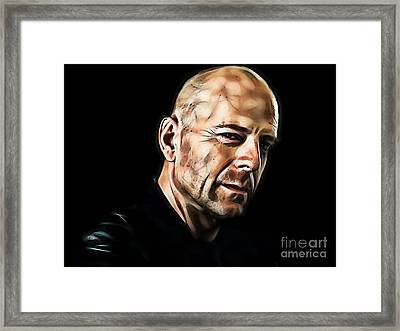 Bruce Willis Collection Framed Print by Marvin Blaine