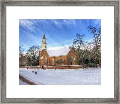 Bruton Parish In Winter II Framed Print