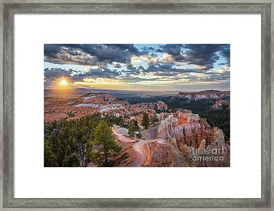 Bryce Canyon Sunrise Framed Print by JR Photography