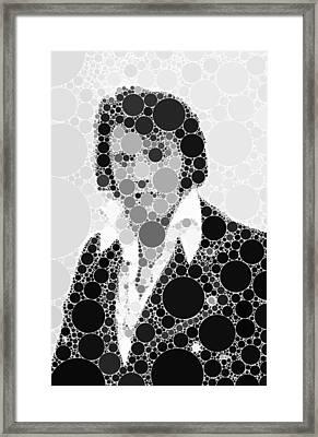 Bubble Art Elvis Framed Print by John Springfield