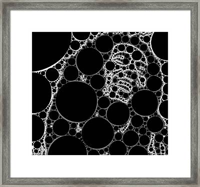Bubble Art Rock Star Framed Print by John Springfield