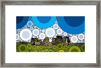 Bubble Art Stonehenge Framed Print by John Springfield