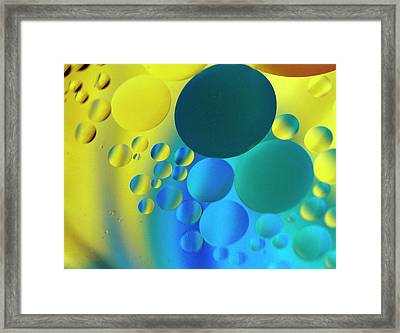 Bubbles Framed Print by Rebecca Cozart