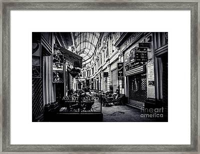 Monochrome Bucharest  Macca - Vilacrosse Passage Framed Print