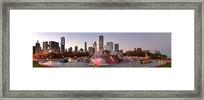 Buckingham Fountain Framed Print by Twenty Two North Photography