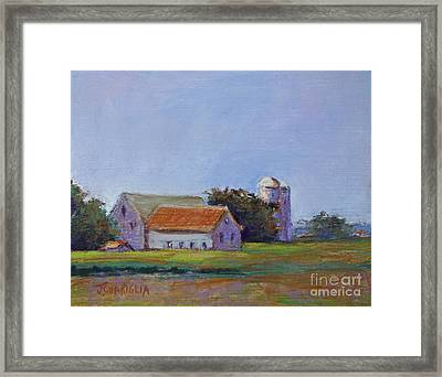 Bucks County Barn Framed Print by Joyce A Guariglia