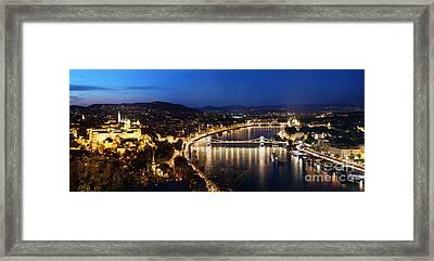 Budapest. View From Gellert Hill Framed Print