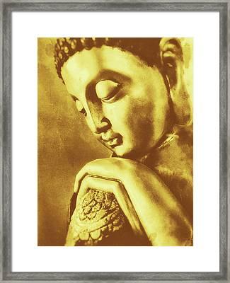 Buddha Golden Framed Print