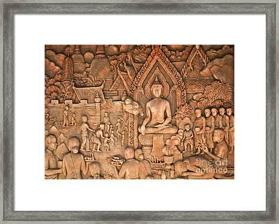 Buddha Framed Print by Niphon Chanthana