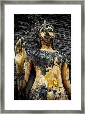 Buddha Statue  Framed Print by Adrian Evans