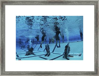 Buds Students Participate In Underwater Framed Print