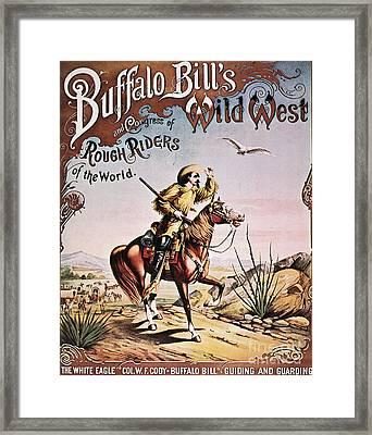 Buffalo Bill: Poster, 1893 Framed Print by Granger