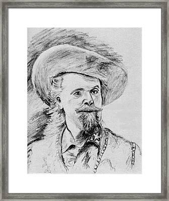 Buffalo Bill Framed Print by Stan Hamilton