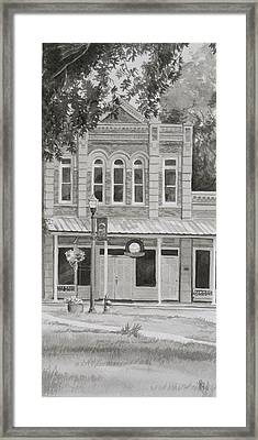 Building On The Square Framed Print by Karen Boudreaux