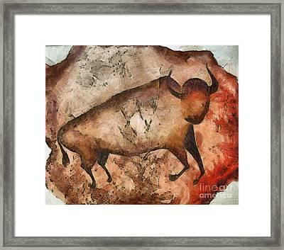 Bull A La Altamira Framed Print