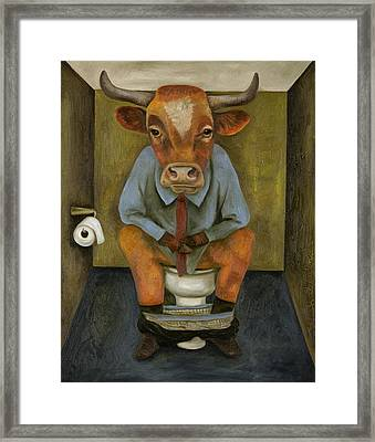 Bull Shitter Framed Print by Leah Saulnier The Painting Maniac