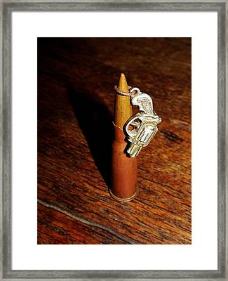 Bullet And Gun Framed Print by Navorol Photography