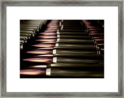 Bullet Array Framed Print