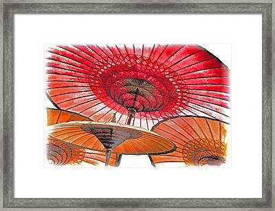 Burmese Parasols Framed Print by Dennis Cox WorldViews