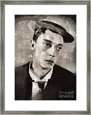 Buster Keaton, Actor Framed Print by Mary Bassett