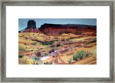 Butte And Mesa Framed Print by Donald Maier