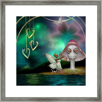 Butterfly Flutters Framed Print by Morning Dew