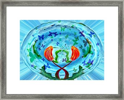 Butterfly World Framed Print by James Steele