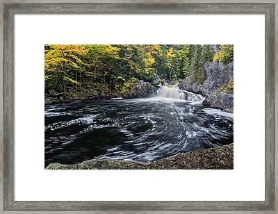 Buttermilk Falls Gulf Hagas Me. Framed Print