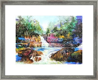 Buttermilk Falls IIi Framed Print by Patricia Allingham Carlson