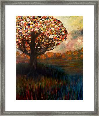 Button Tree 0001 Framed Print