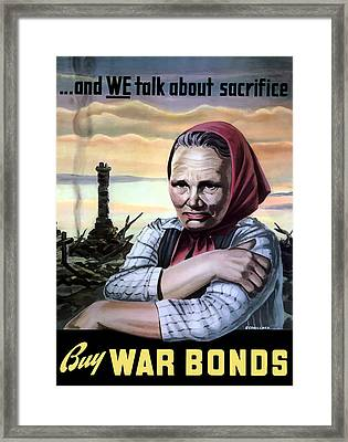 Buy War Bonds Framed Print