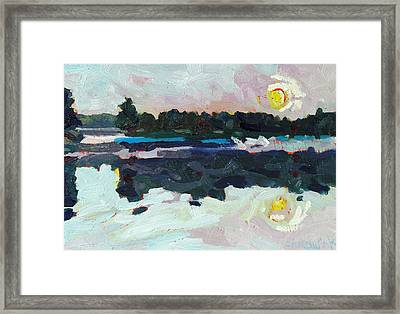 A New Dawn On Buzzard Lake Framed Print