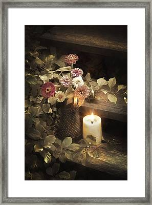 Framed Print featuring the photograph By Candle Light by Robin-Lee Vieira