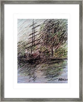 By The Lake Framed Print by Aida Behani