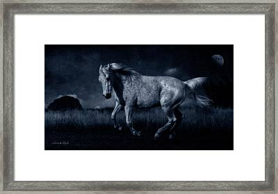By The Light Of The Silvery Moon Framed Print by Karen Slagle