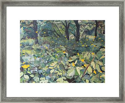 By The Old Orchard Framed Print