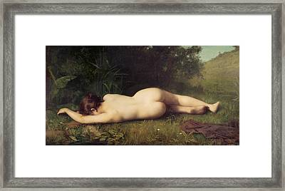 Byblis Turning Into A Spring Framed Print by Jean-Jacques Henner