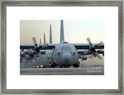 C-130 Hercules Aircraft Taxi Framed Print by Stocktrek Images