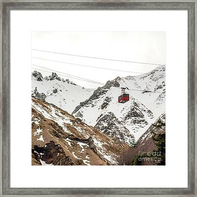 Cable Car In Puy De Sancy. Auvergne. France Framed Print by Bernard Jaubert