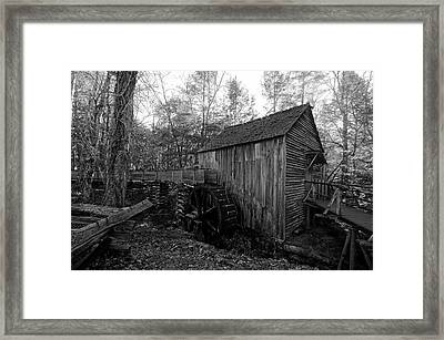 Cades Cove Mill - Tennessee Framed Print by Lisa Lyne Blevins