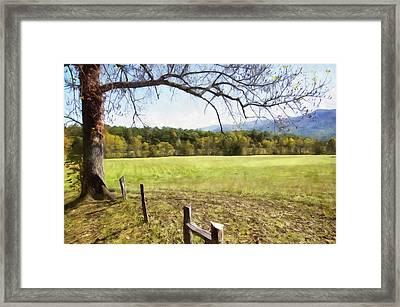 Cades Fence Framed Print