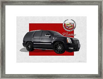 Cadillac Escalade With 3 D Badge  Framed Print